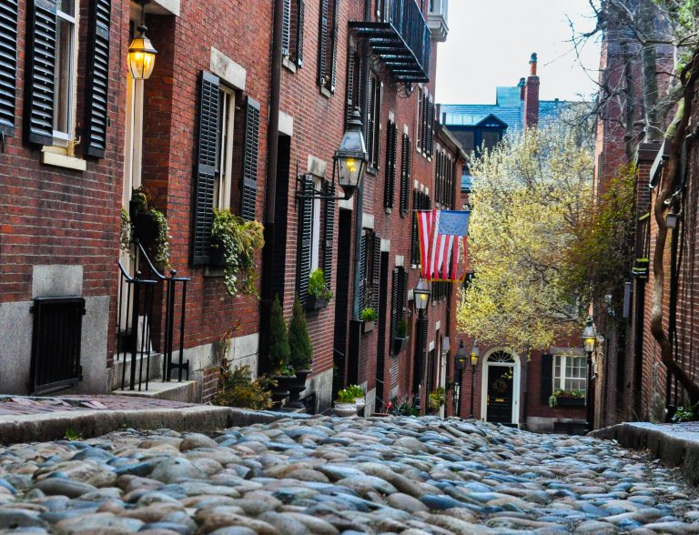 Acorn St, a most instagrammable Boston spot